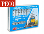 Peco 4mm scale (OO) Overhead Line Equipment (OHLE) Catenary